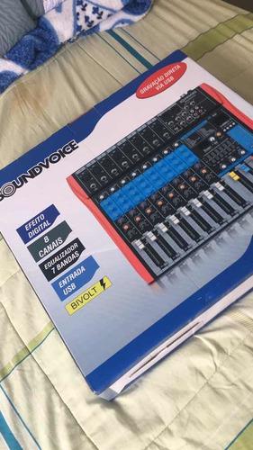 Mesa De Som - Soundvoice Ms802 - Eux