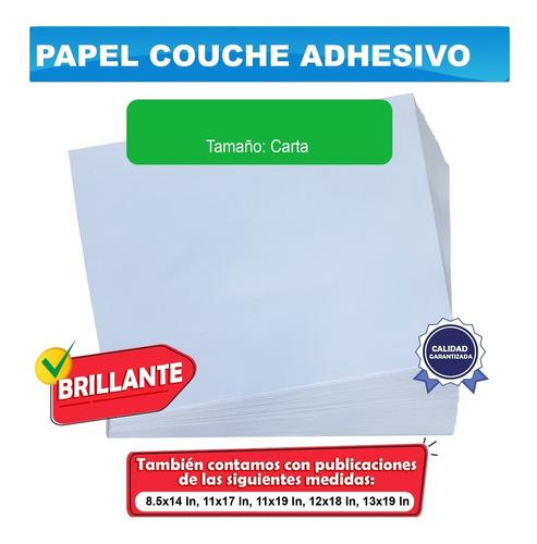 Imagen 1 de 1 de 100 Hojas Carta Papel Autoadhesivo Adherible Para Etiquetas