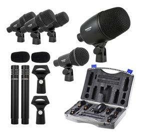 Kit De 7 Microfones Para Bateria Takstar Dms7as + Estojo !