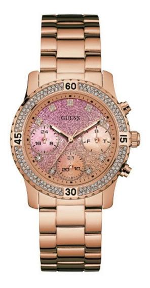 Relógio Feminino Guess 92595lpgsra3 Original Rose Visor Ros