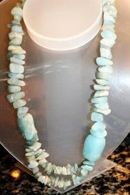 Colar De Água Marinha, Lindo!!!! Pedras Naturais!!!!
