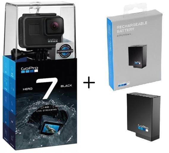 Câmera Gopro Hero 7 Black 12mp 4k + 1 Bateria Extra Original