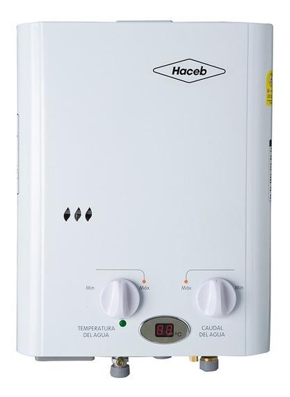 Calentador A Gas De Paso Haceb 5.5lt Tn Gn Auto - Blanco