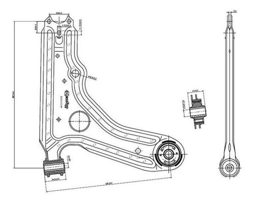 Imagen 1 de 6 de Parrilla Suspension Fiat Uno 2010 En Adelante Delantera