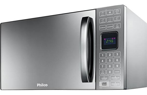 Micro-ondas 25 Litros Espelhado Philco Pme25 110v Prata