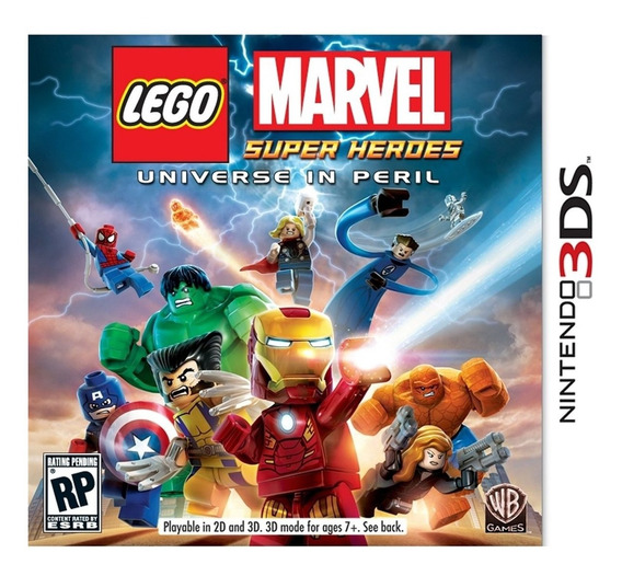 Lego Marvel Super Heroes 3ds Mídia Física Lacrado