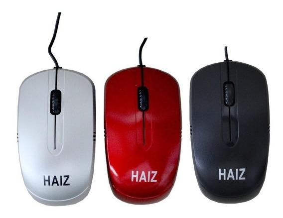 Mouse Ópticol Com Fio Usb Notebook E Pc Haiz Hz-016