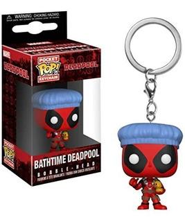 Funko Pop Keychain Deadpool Bathtime Marvel