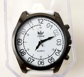 Relógio Masculino adidas Branco Silicone