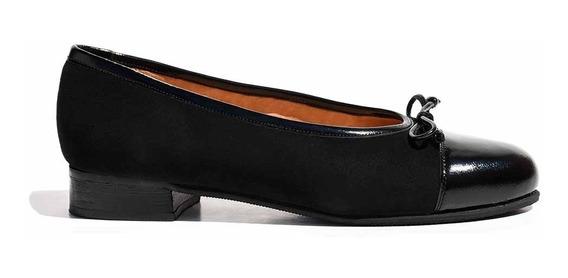 Chatita Mujer Briganti Cuero Zapato Confort Negro Mccha2907