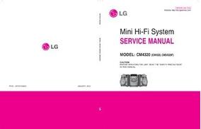 Esquema Som Lg Cm4320 Mini Hi-fi System