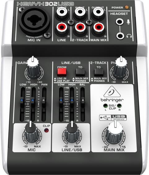 Mixer Xenyx Bivolt 302usb Behringer Nfe