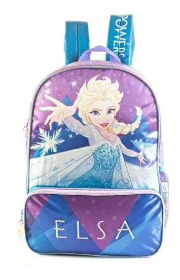 Mochila Frozen Elsa Espalda 16p Mundo Moda Kids 88302
