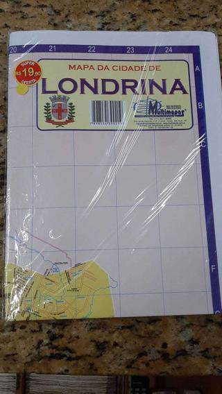 Mapa Da Cidade De Londrina 2019 Editora Mais Visão