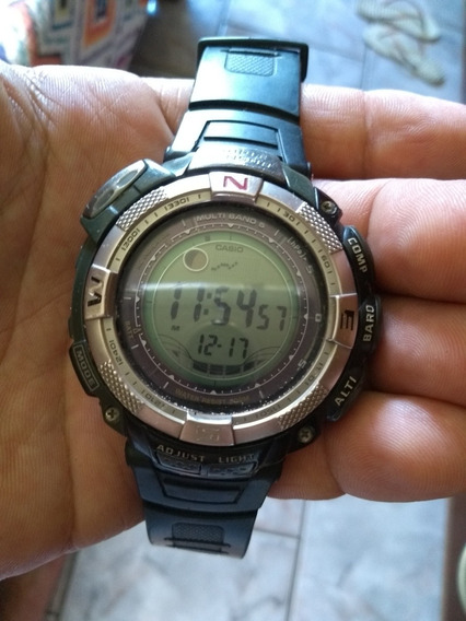 Relógio Casio Trip Sensor Protek 5 Mult Band Pan 1500