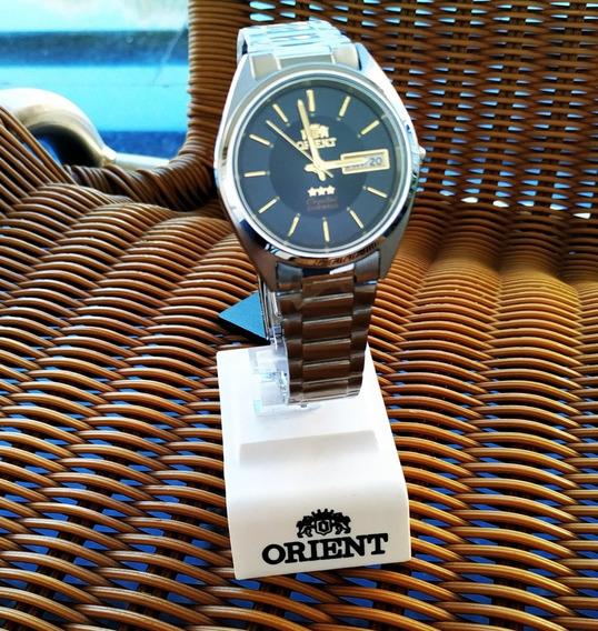 Relógio Orient Automático Masculino Fundo Azul Escuro