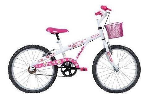Bicicleta Infantil Caloi Ceci Aro 20 Branca