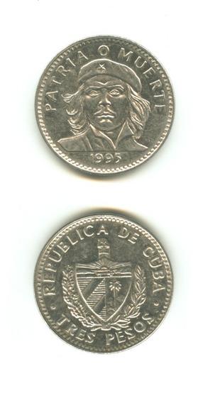 Moneda Che Guevara 3 Pesos