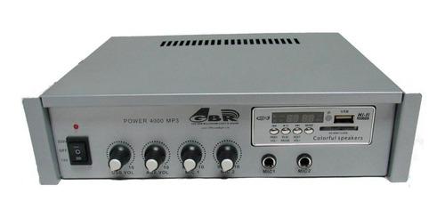 Amplificador Gbr Power 4000 Mp3 30w Funciona A 220 O 12 V