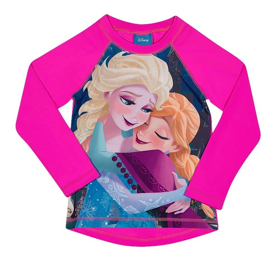 Camiseta Praia Frozen - Disney - Proteção Solar Fps 50+