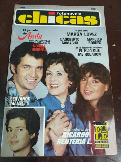 Marga Lopez Y Servando Manzetti En Fotonovela Chicas