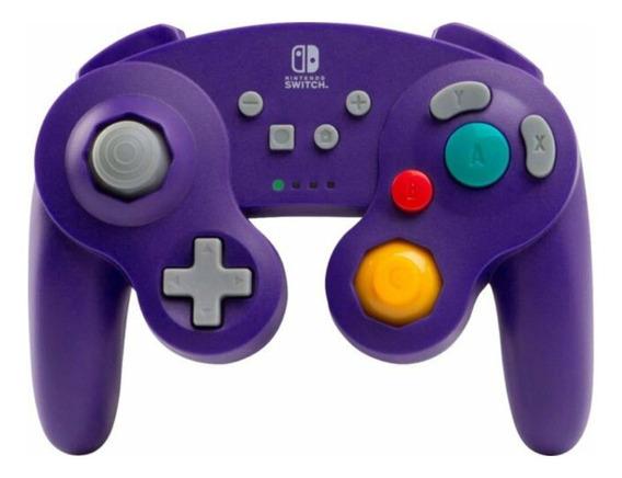 Controle joystick PowerA Wireless Gamecube Controller for Switch púrpura