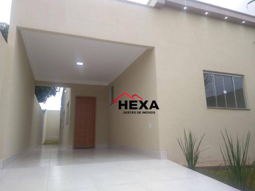 Casa Com 3 Quartos Sendo 1 Suíte À Venda, 100 M² Por R$ 230.000 - Cardoso Continuação - Aparecida De Goiânia/go - Ca0579