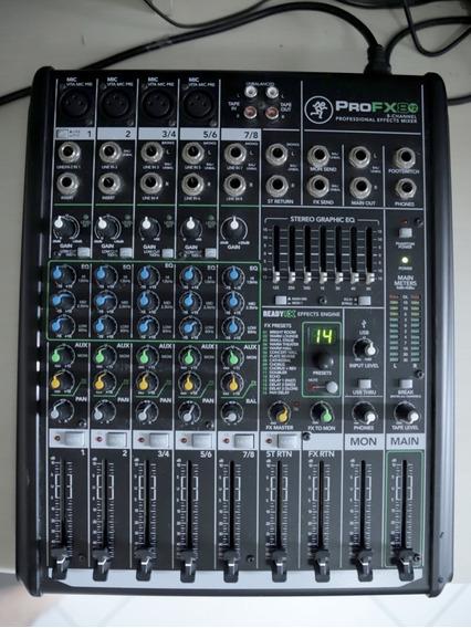 Mesa De Som Mackie 8 Canais Pro Fx8 V2 Usb C/ Efeitos Bivolt