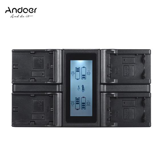 Andoer Lp -e6 Lp E6n Npfw50 Np - Câmera Digital 4 Canal Da M