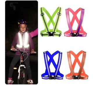 Chaleco De Seguridad Florecente Para Niños. Moto, Ciclismo