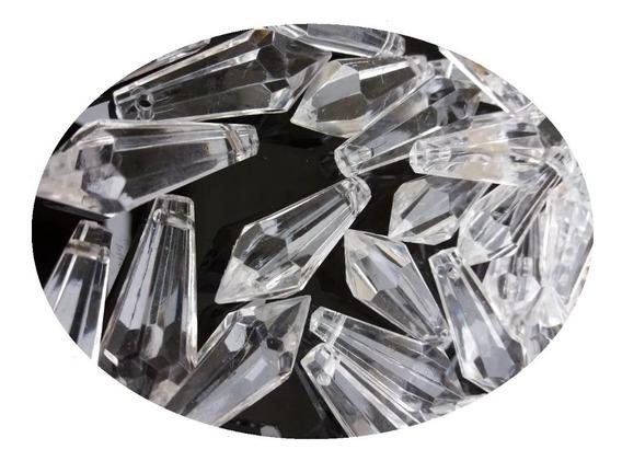 Kit Ponteiras Castanhas Acessórios Acrílico Cristal Lustres