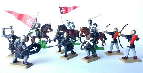 Soldados Medievales - Cruzados - Templarios Pintados A Mano