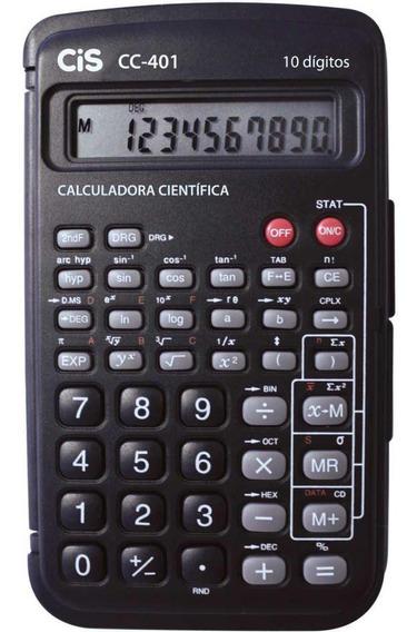 Calculadora Cientifica 10 Digitos Mod.c-401 Com Capa