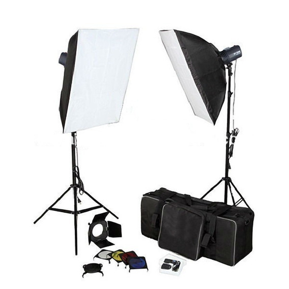 Kit Estudio Flash 320w Com Softbox E Rádio [sanjardini]