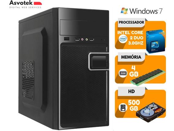 Computador Intel Core 2 Duo 4gb Hd 500gb Windows 7 Wifi Pc