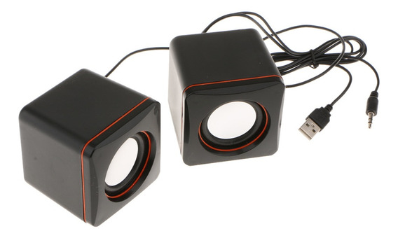 Design Simples Portátil Com Fio Computador Estéreo Mp3 Speak