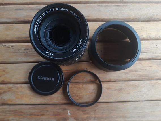 Lente Canon Ef-s 18-135mm F/3.5-5.6 + Filtro Uv Kenko
