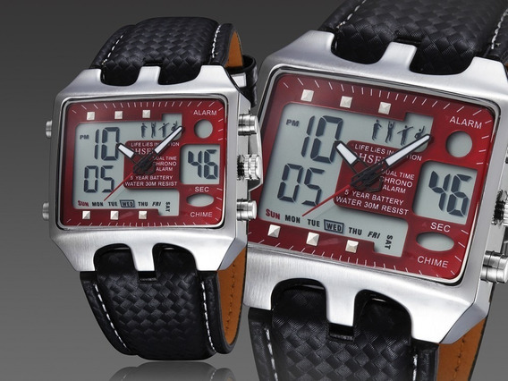 Novo Relógio Ohsen Vermelho Esporte Masculino/feminino