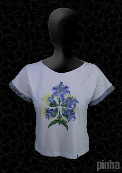 Blusa Ecológica Sustentável Pinha Originals - Lírio Azul