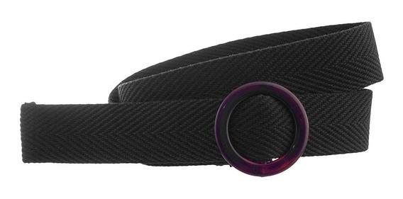 Cinturon De Rafia Con Hebilla Circular Acrílico Premium