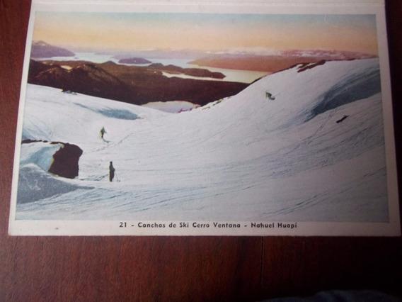 Postal Canchas Ski Cerro Ventana Nahuel Huapi - En La Plata