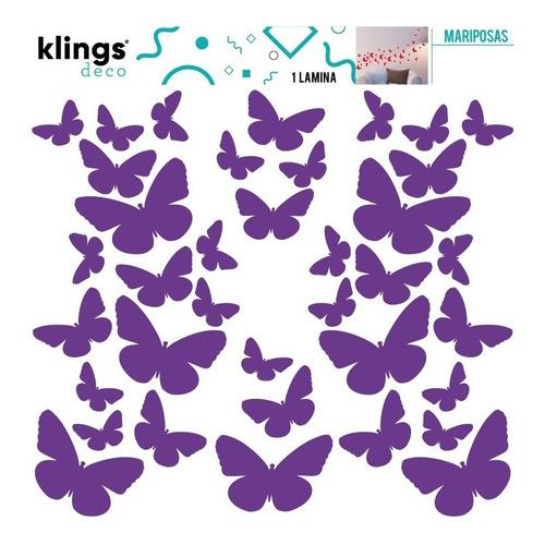 Imagen 1 de 1 de Vinilos Decorativos Mariposas Varios Colores Trama