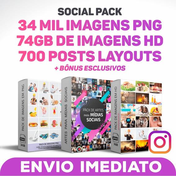 Social Media Pack Editáveis 700 Post Layout + 34 Mil Imagens