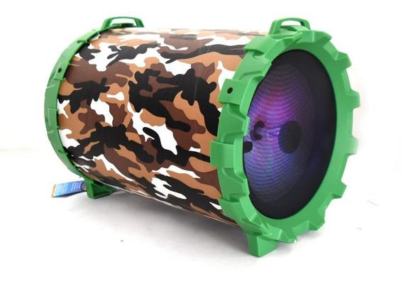 Bocina Bluetooth Recargable Portatil Usb Fm Led Auxiliar Fm Bazooka Velikka Mp3