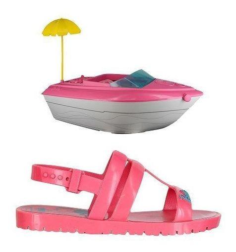 Sandália Infantil Barbie - Acompanha Iate