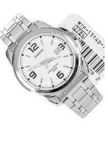 Reloj Casio Modelo Mtp - 1314 Metálico Caratula Blanca