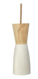 Lampara Colgante De Diseño Polipropileno Y Madera Prestigio