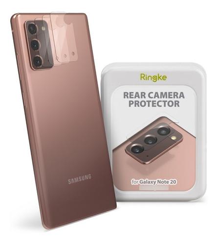 Imagen 1 de 10 de Vidrio Templado Cámara Galaxy Note 20 Ringke Pack X3 Origina