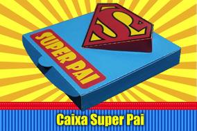 Caixa Super Pai 3d Dia Dos Pais Arquivo De Corte Silhouette
