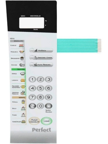 Imagem 1 de 2 de Membrana Teclado Microondas Panasonic Nns56bh Nn S56bk
